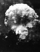 Hiroshima mushroom cloud (picture taken from the ground)