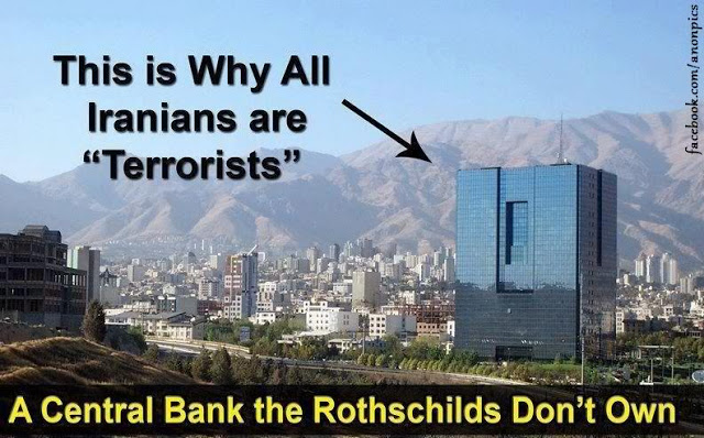 Iran central bank - not owned by Rothschild yet